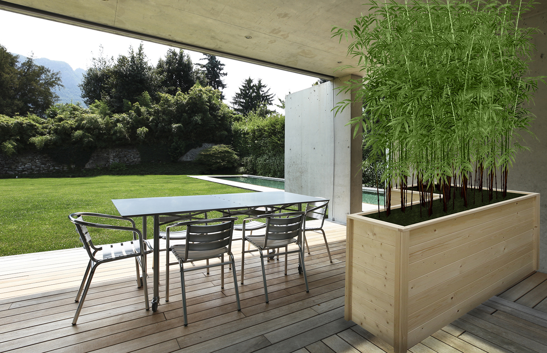 21018652 - veranda of a modern house with a beauty pool